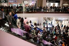 Shoppers at Brea Mall, Brea, California