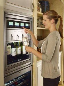 wine dispenser fridge