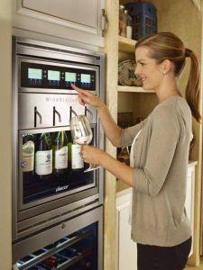 wine dispenser fridge