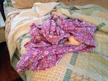Petra in pajamas