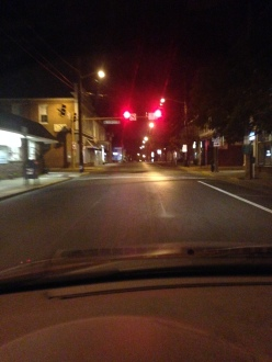 the one intersection/light in town and not a soul in sight