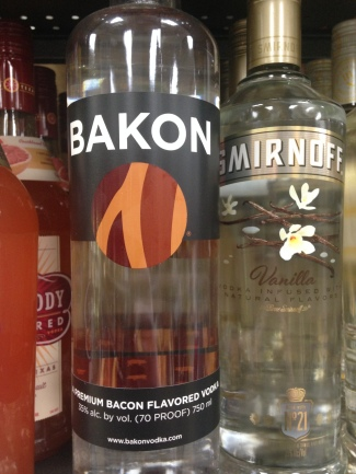 Okay, of course I had to share this one, right? I mean, bacon just seems to be taking over the world. Why not our alcoholic beverages? I know a lot, and I mean A LOT, of people who would buy this and enjoy it. Or at least say they do anyway.