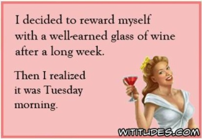 wine on Tuesday