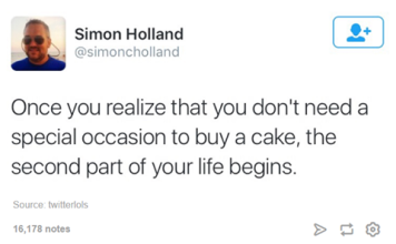 buying cake