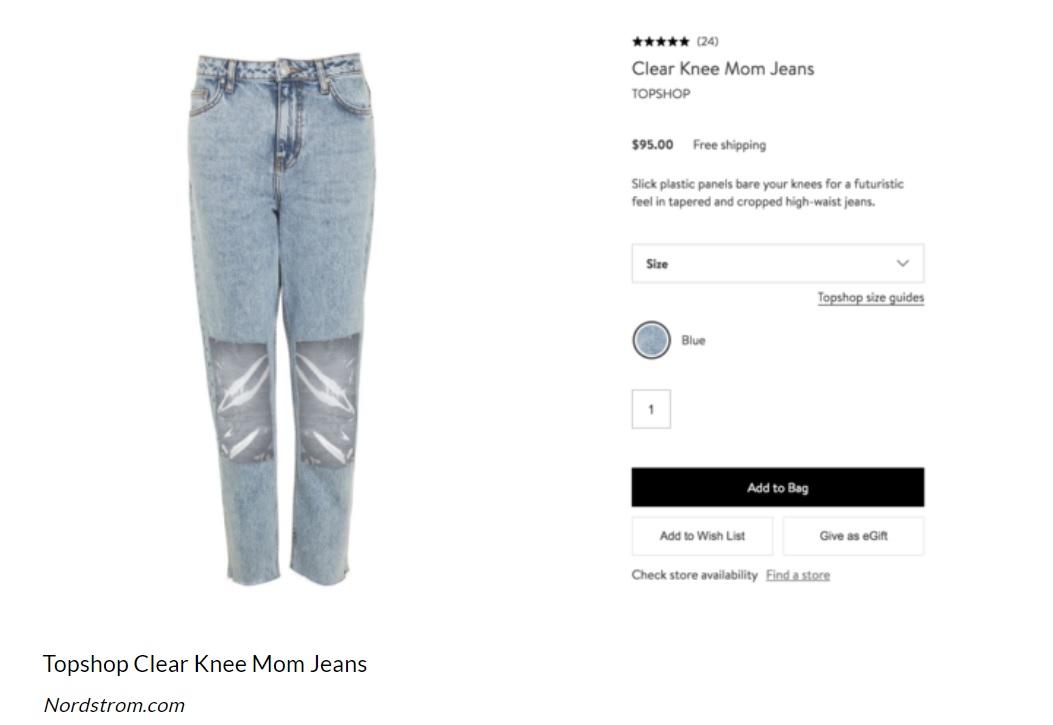 plastic knee jeans